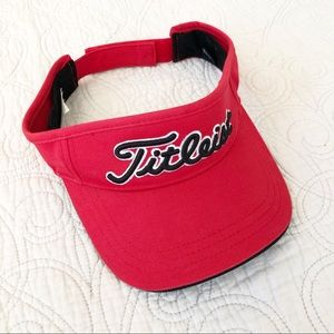 NWOT Titleist Red Men's Visor Hat